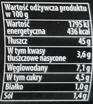 Majonez sałatkowy - Wartości odżywcze - pl
