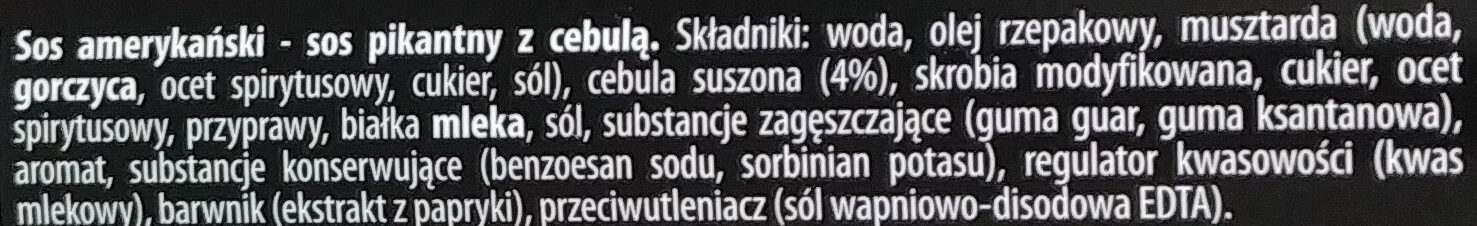 Sos amerykański - Składniki - pl