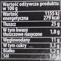 Sos amerykański - Wartości odżywcze - pl