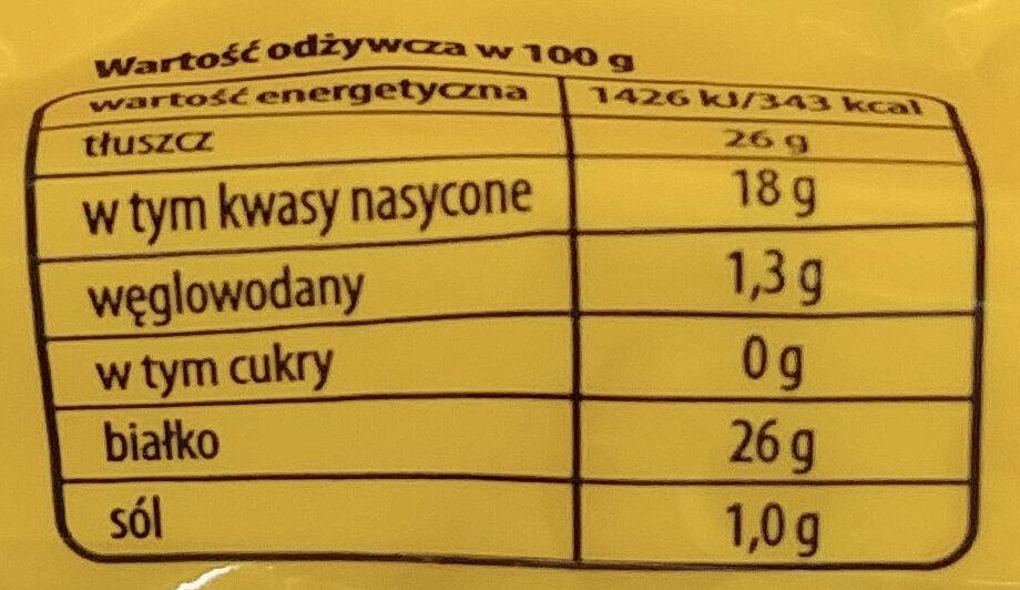 Ser żółty królewiecki szwajcar - Wartości odżywcze - pl