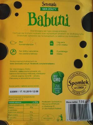Ser żółty Serenada - Składniki - pl