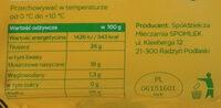Ser żółty Serenada - Wartości odżywcze - pl
