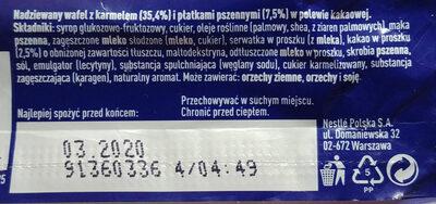 Lion BAR de Nestlé - Składniki - pl