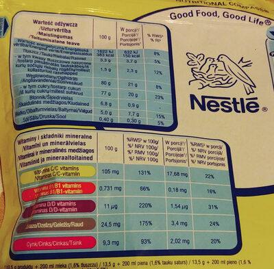 Rozpuszczalny napój kakaowy z dodatkiem witamin i składników mineralnych. - Wartości odżywcze - pl