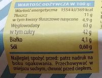 rolada cytrynowa - Wartości odżywcze - pl