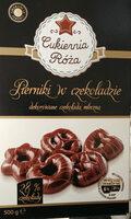 Pierniki w czekoladzie dekorowane czekoladą mleczną - Produkt - pl