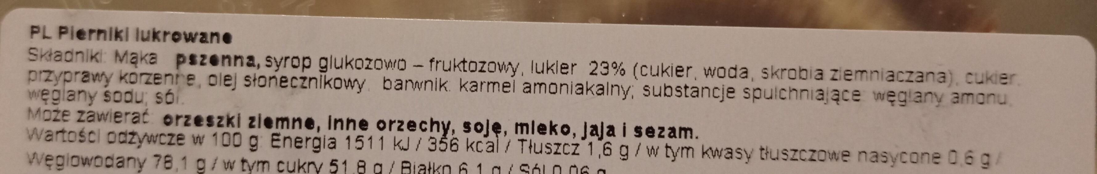 piekarniki lukrowane - Składniki - pl
