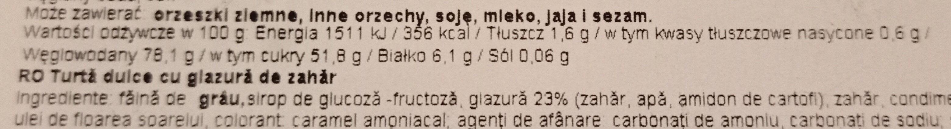 piekarniki lukrowane - Wartości odżywcze - pl