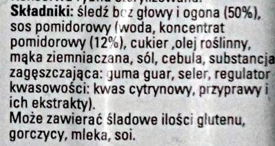 Śledź w sosie pomidorowym - Składniki - pl
