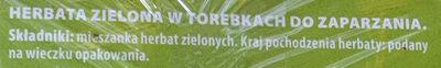 Herbata zielona - Ingrédients - pl