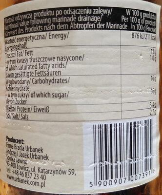 Pomidory suszone w oleju z ziołami i żurawiną - Nutrition facts - en