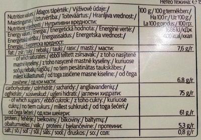 Hot Chocolatta - Informations nutritionnelles - hu