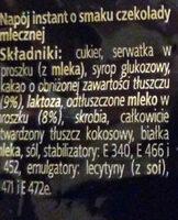 Napój instant o smaku czekolady mlecznej. DecoMorreno Chocollata Hot Milky - Ingrediënten - pl