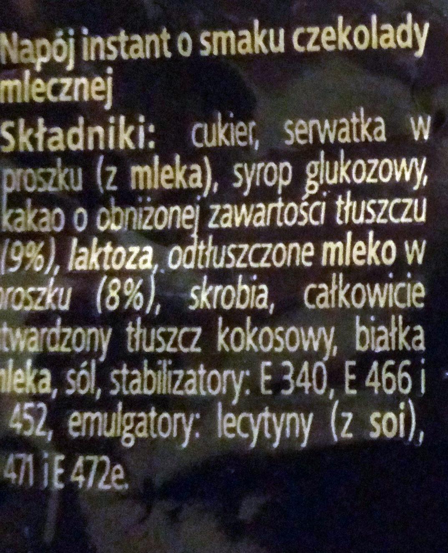 Napój instant o smaku czekolady mlecznej. DecoMorreno Chocollata Hot Milky - Składniki - pl