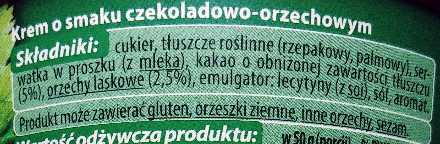 Krem o smaku czekoladowo-orzechowym - Składniki - pl