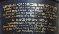 Czekolada do picia o obniżonej zawartości tłuszczu - Ingrediënten - pl