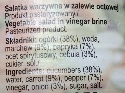 Sałatka grecka - Ingredients