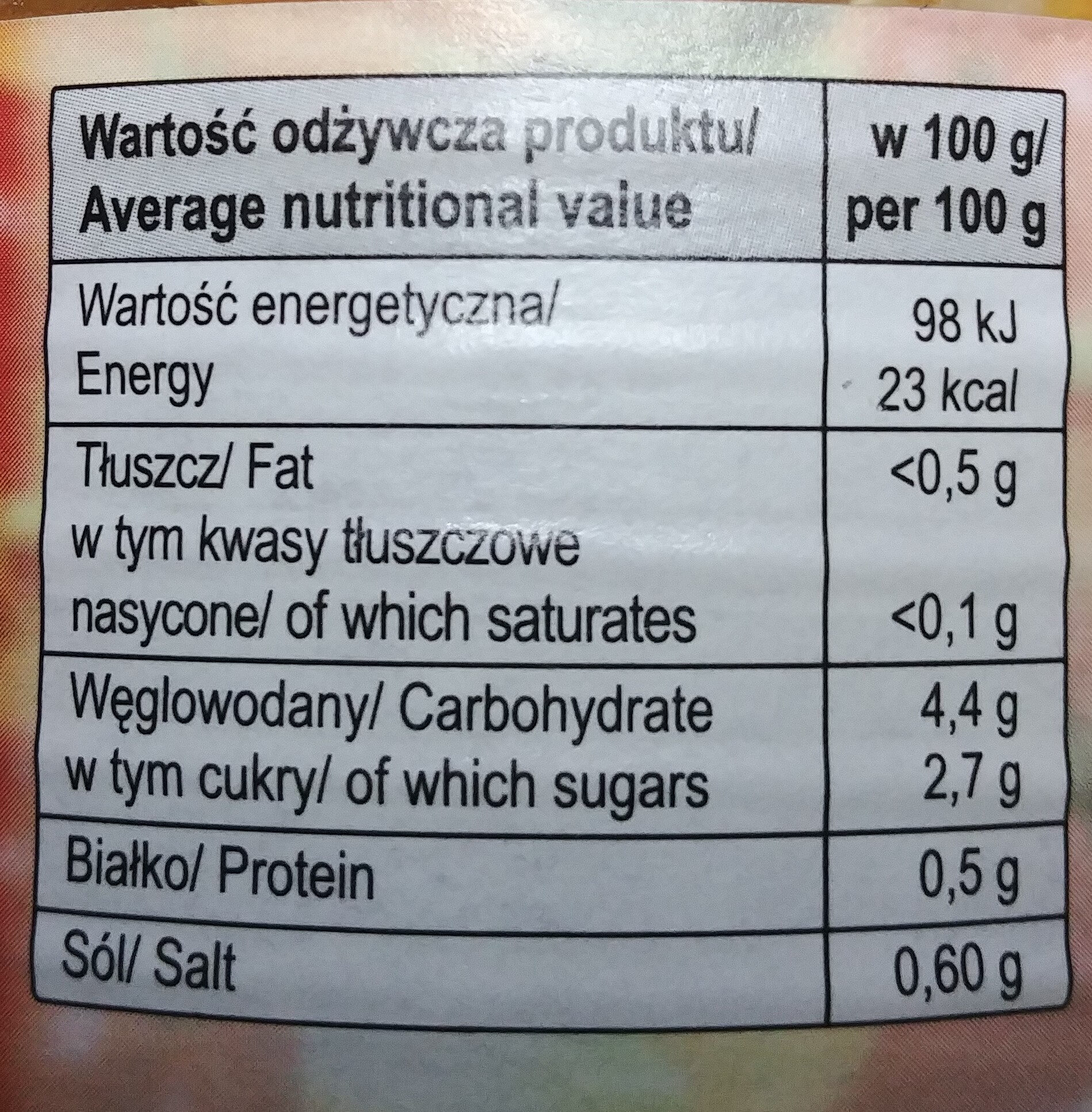 Sałatka grecka - Nutrition facts