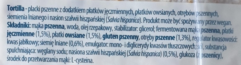 Tortilla - Składniki - pl