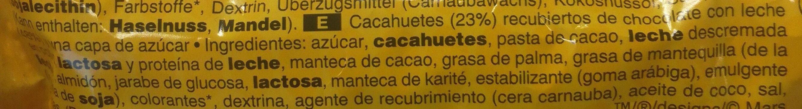 Peanut Chocolate Big Bag - Ingredients - es