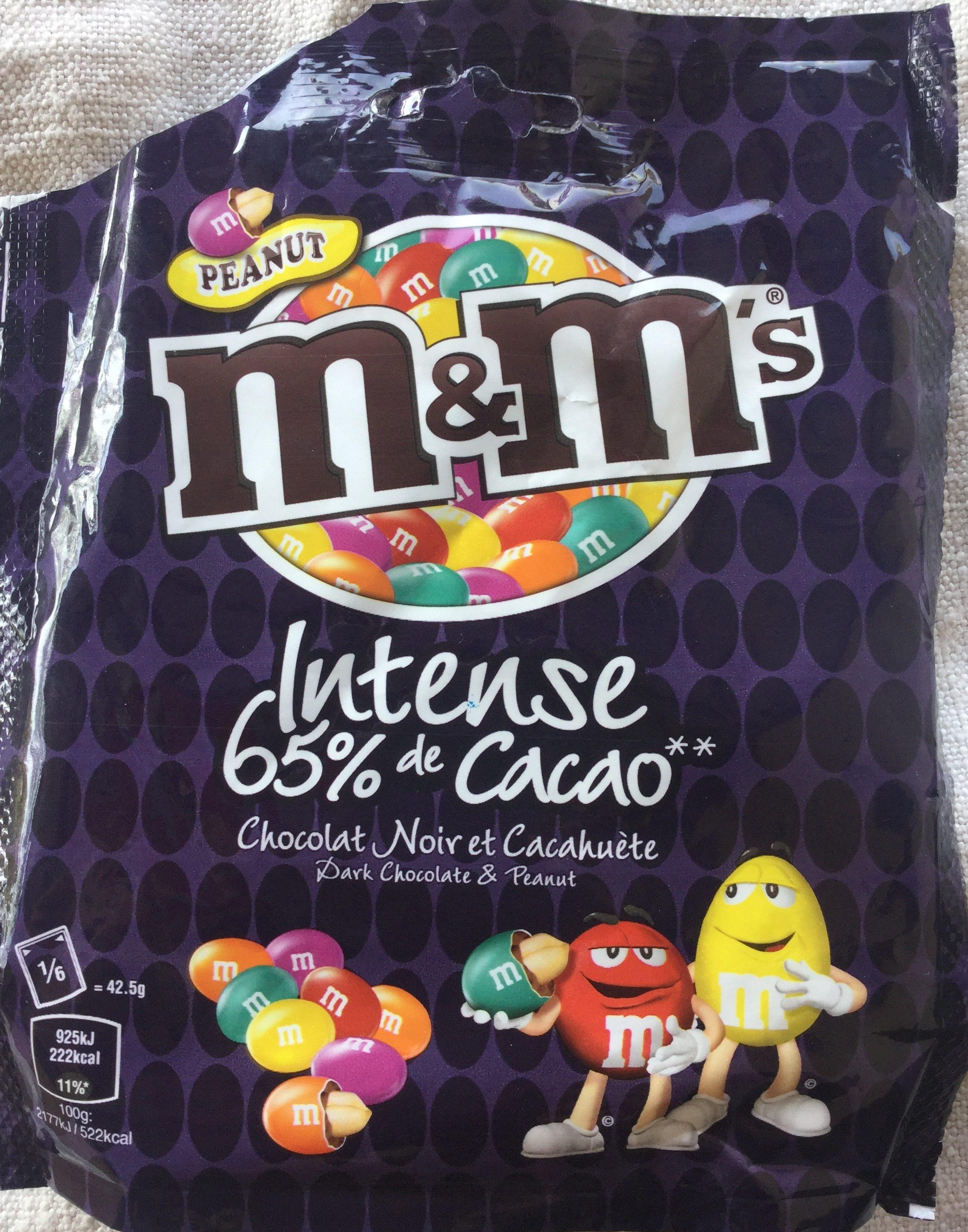 Intense 65 % Cacao, Chocolat Noir et Cacahuète - Product