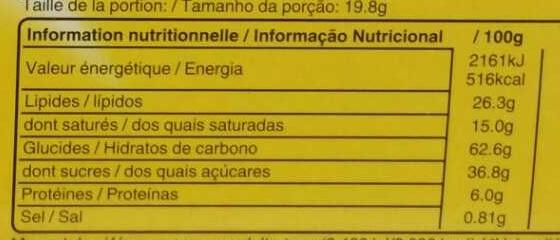 M&m's biscuit - Informations nutritionnelles - fr