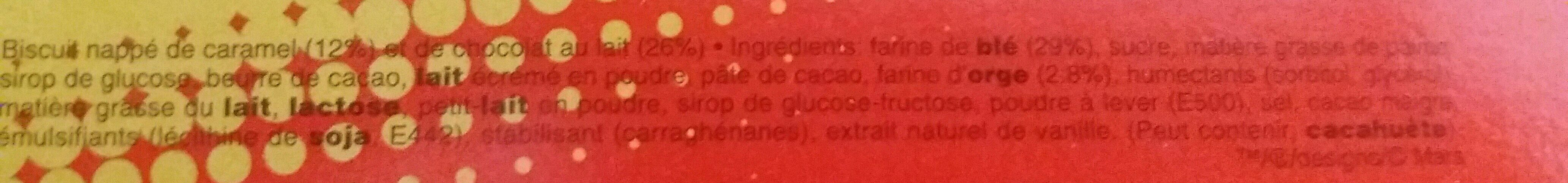 Twix top - Ingredientes - fr