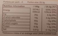 Galaxy Salted Caramel - Informations nutritionnelles - en