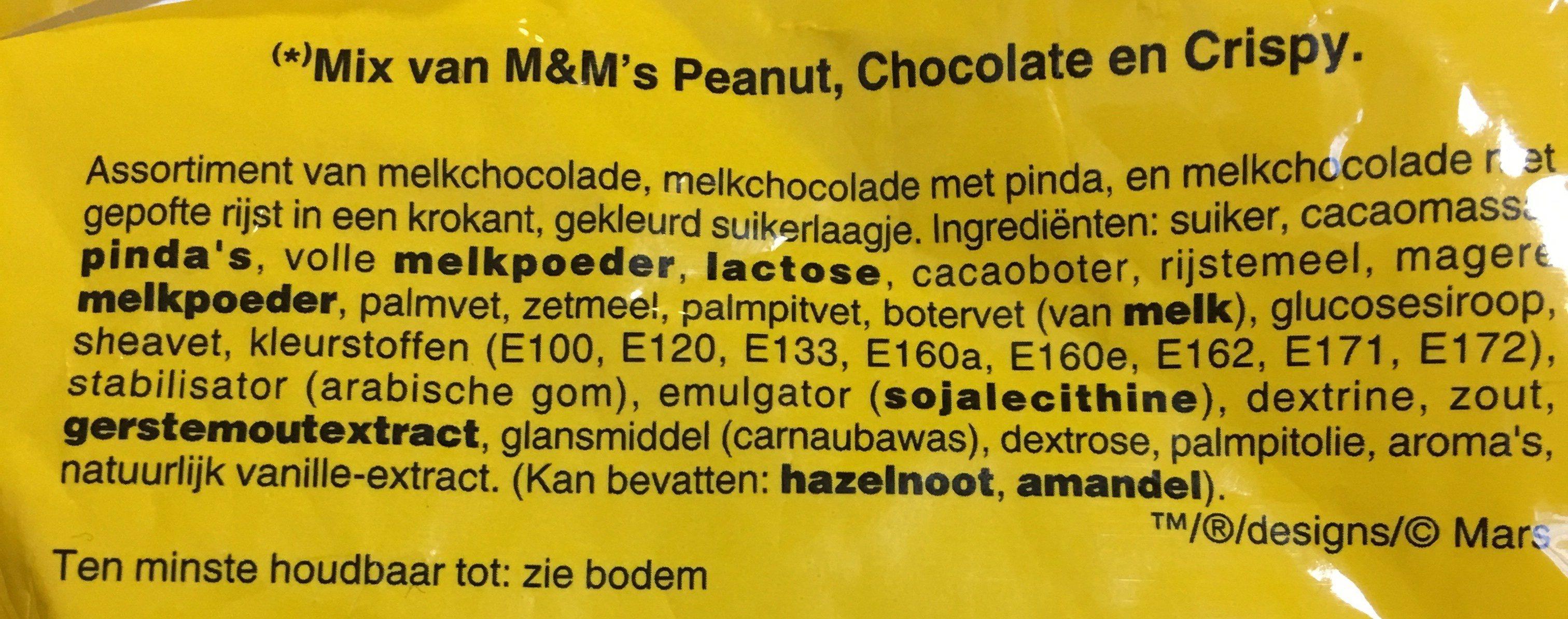 M&M's mix - Ingredients - fr