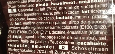 M &M'S Choco 330G - Ingredients