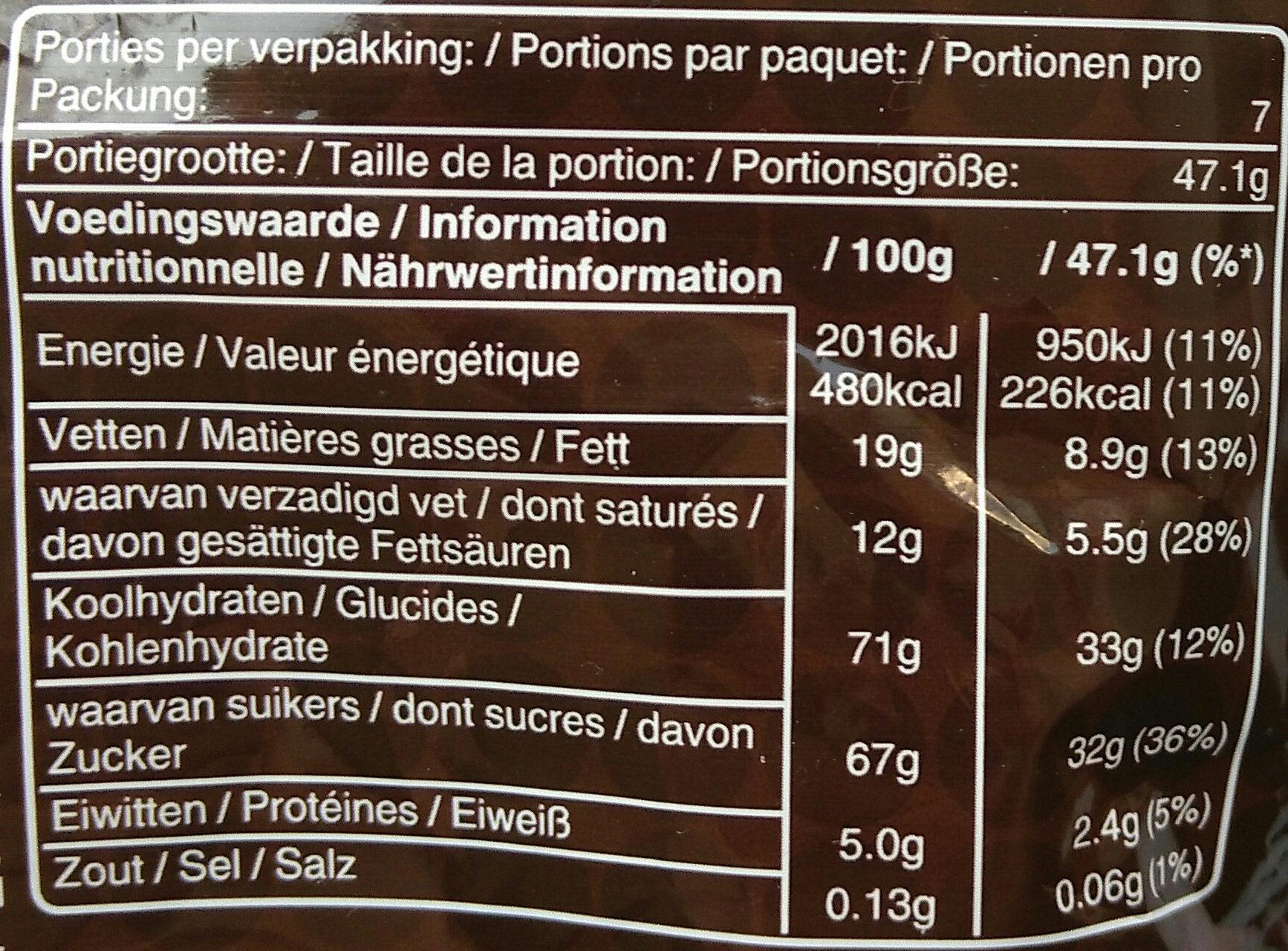 m&m's Chocolate - Voedingswaarden - de