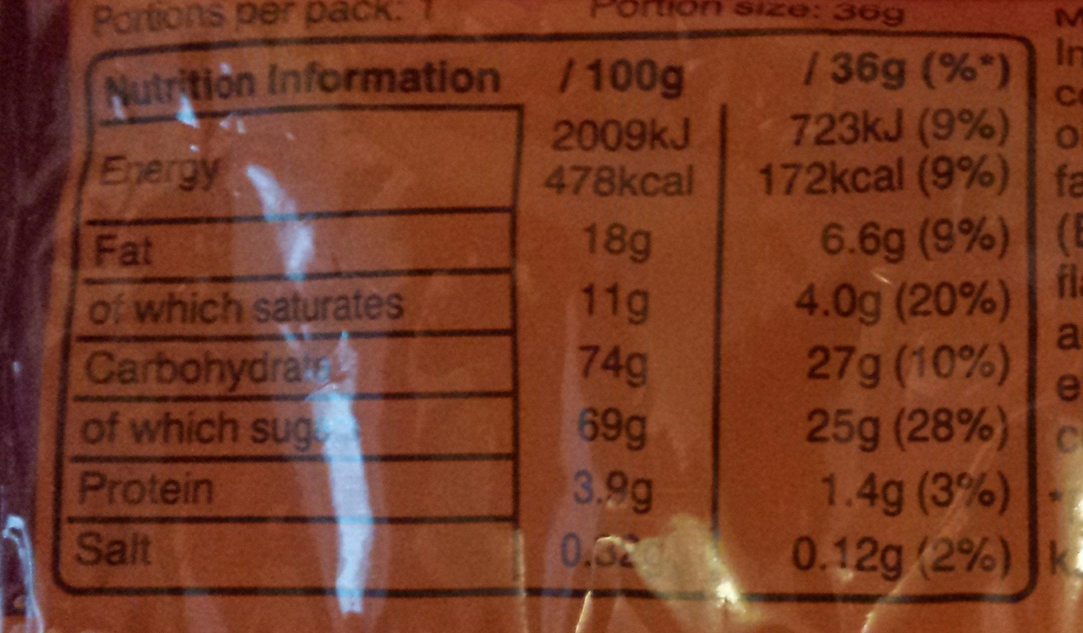 M&M's Crunchy Caramel - Nutrition facts - en