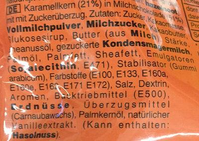 M&M's crunchy caramel - Ingredients - de