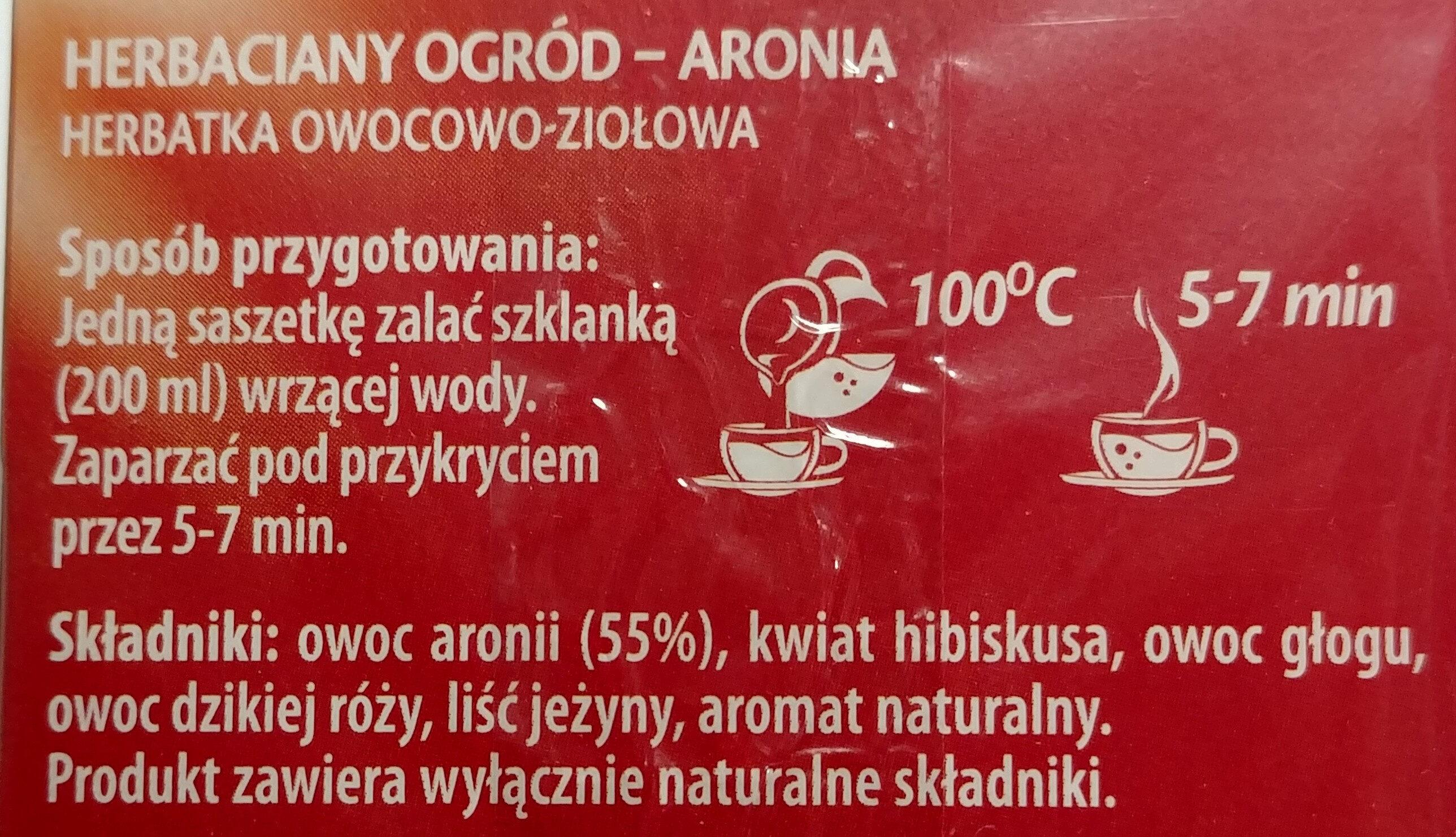 Herb. aronia Herbapol 20SZT - Składniki - pl