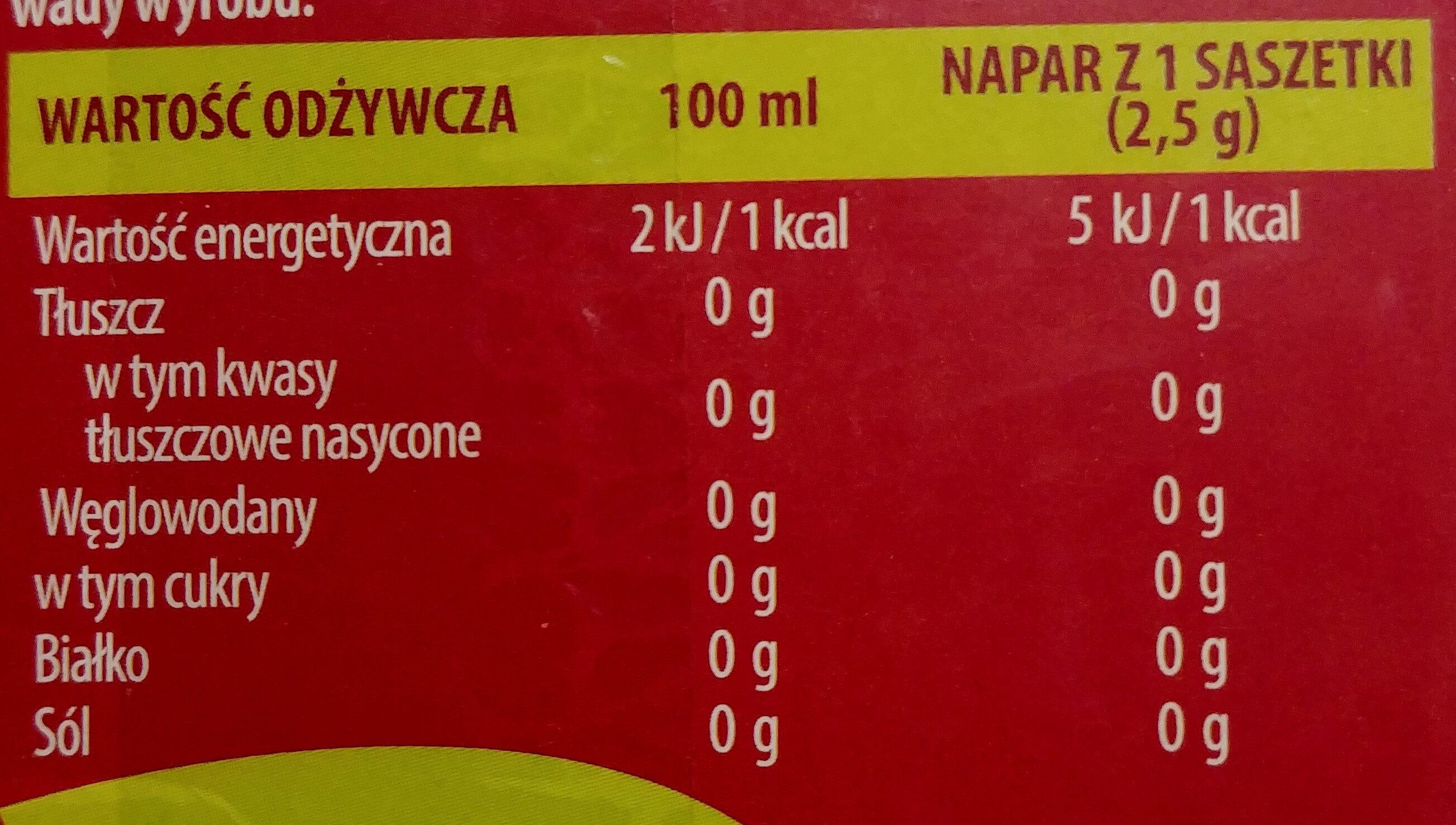 Herbaciany ogród - Prosto z lasu. - Voedingswaarden - pl