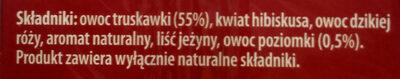 Herbata truskawka z poziomką - Składniki - pl