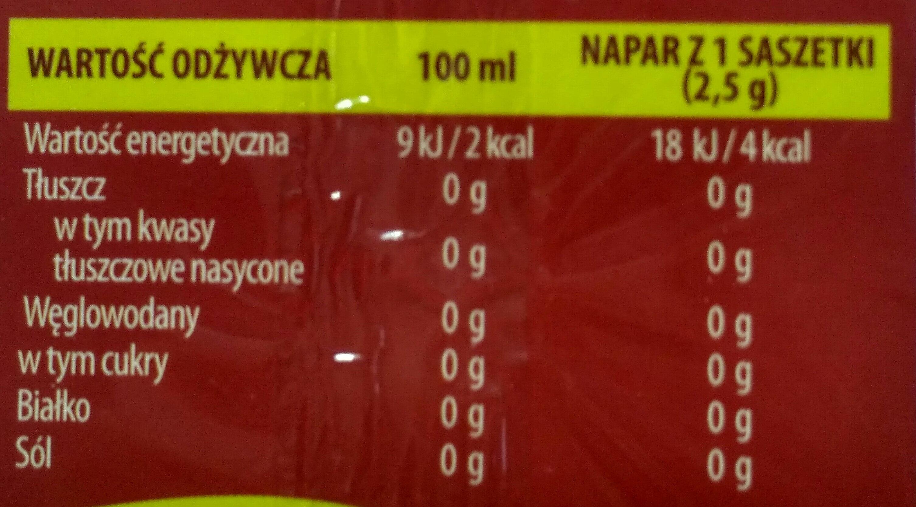 Herbata truskawka z poziomką - Wartości odżywcze - pl