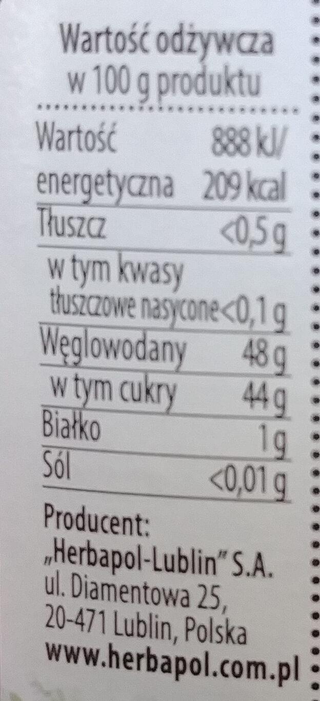 Powidła śliwkowe - Nutrition facts - pl