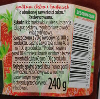 Konfitura ekstra z truskawek o obniżonej zawartości cukru. - Ingredients - pl