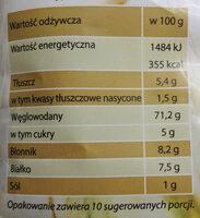 Musli owocowe pożywne śniadanie. - Voedingswaarden - pl