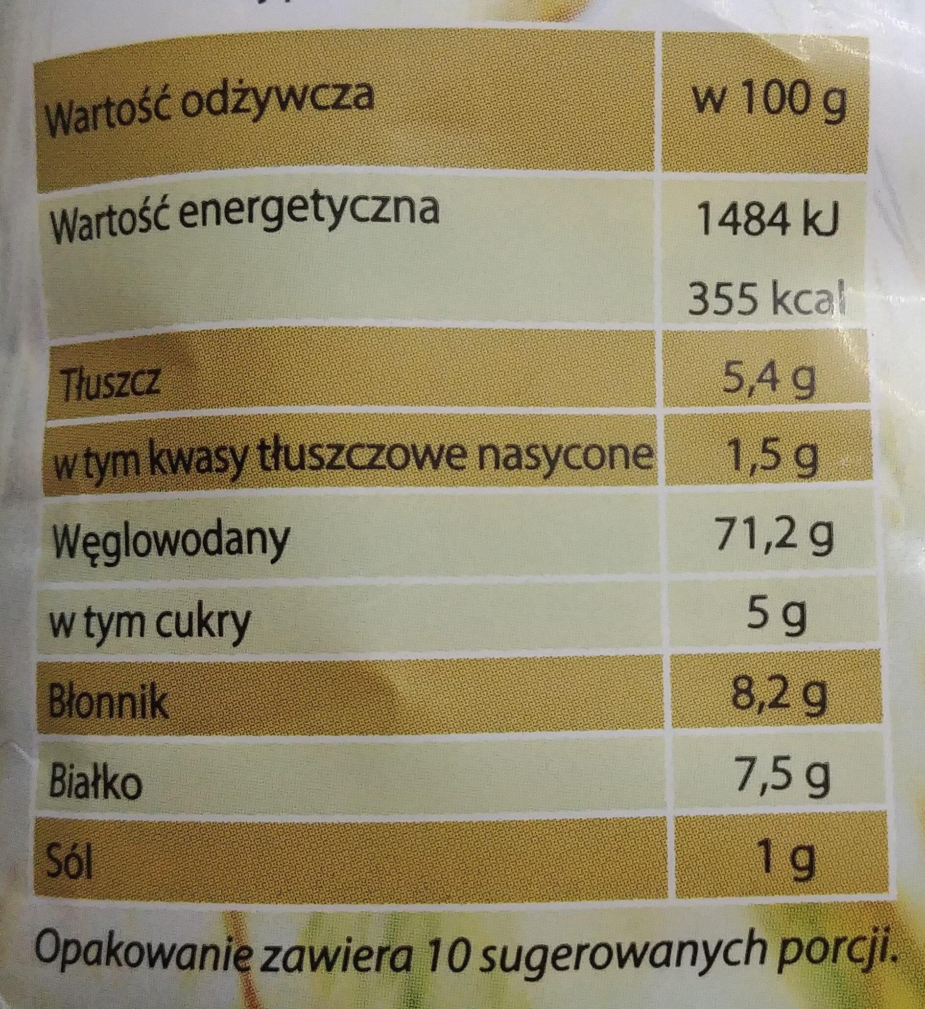 Musli owocowe pożywne śniadanie. - Wartości odżywcze - pl