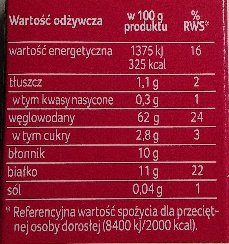 Kasza pęczak jęczmienny - Nutrition facts - pl