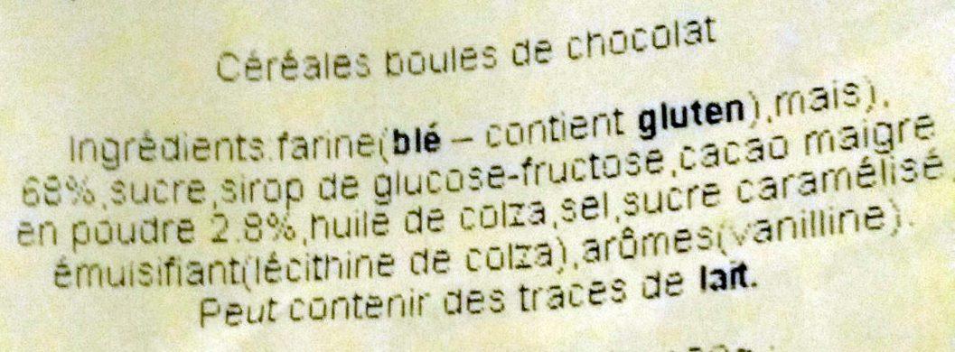 Boules soufflées au chocolat - Ingredients - fr