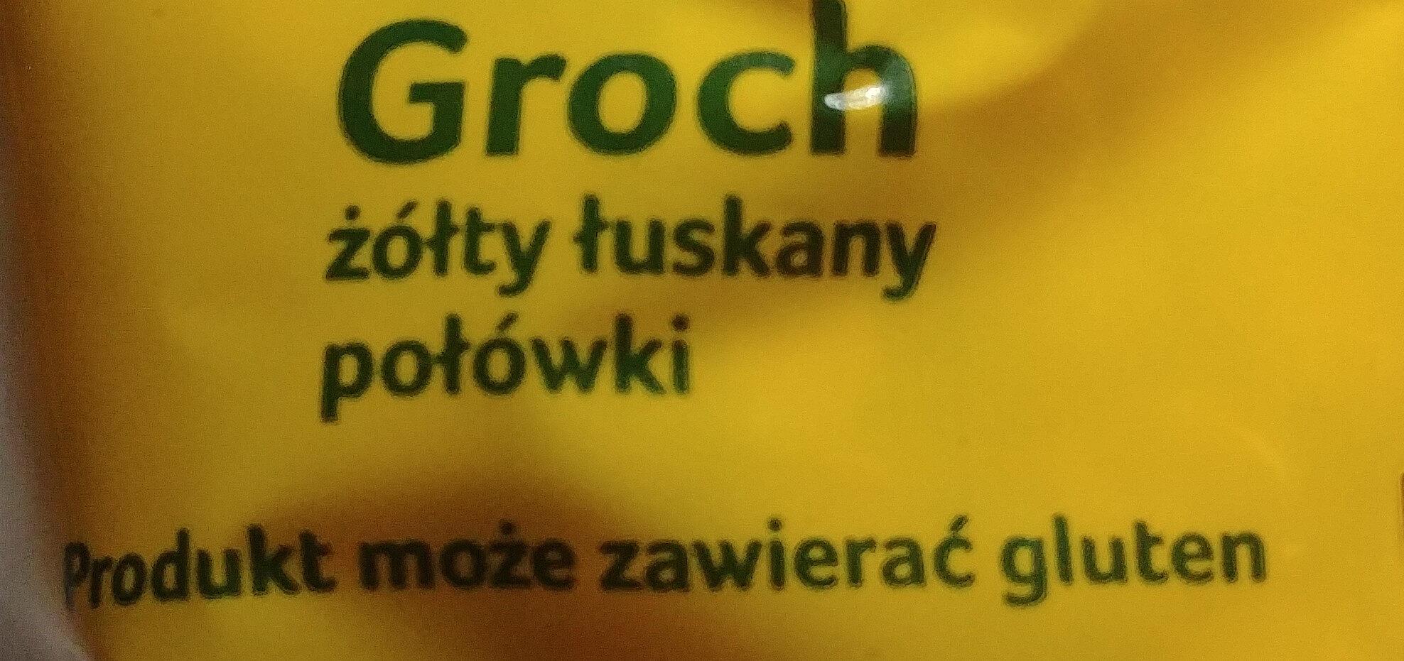 Groch żółty łuskany połówki - Składniki