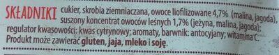 Kisiel Owocowy Kubek, owoce leśne - Ingrediënten - pl