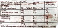 Śnieżka oryginalna - Nutrition facts - pl