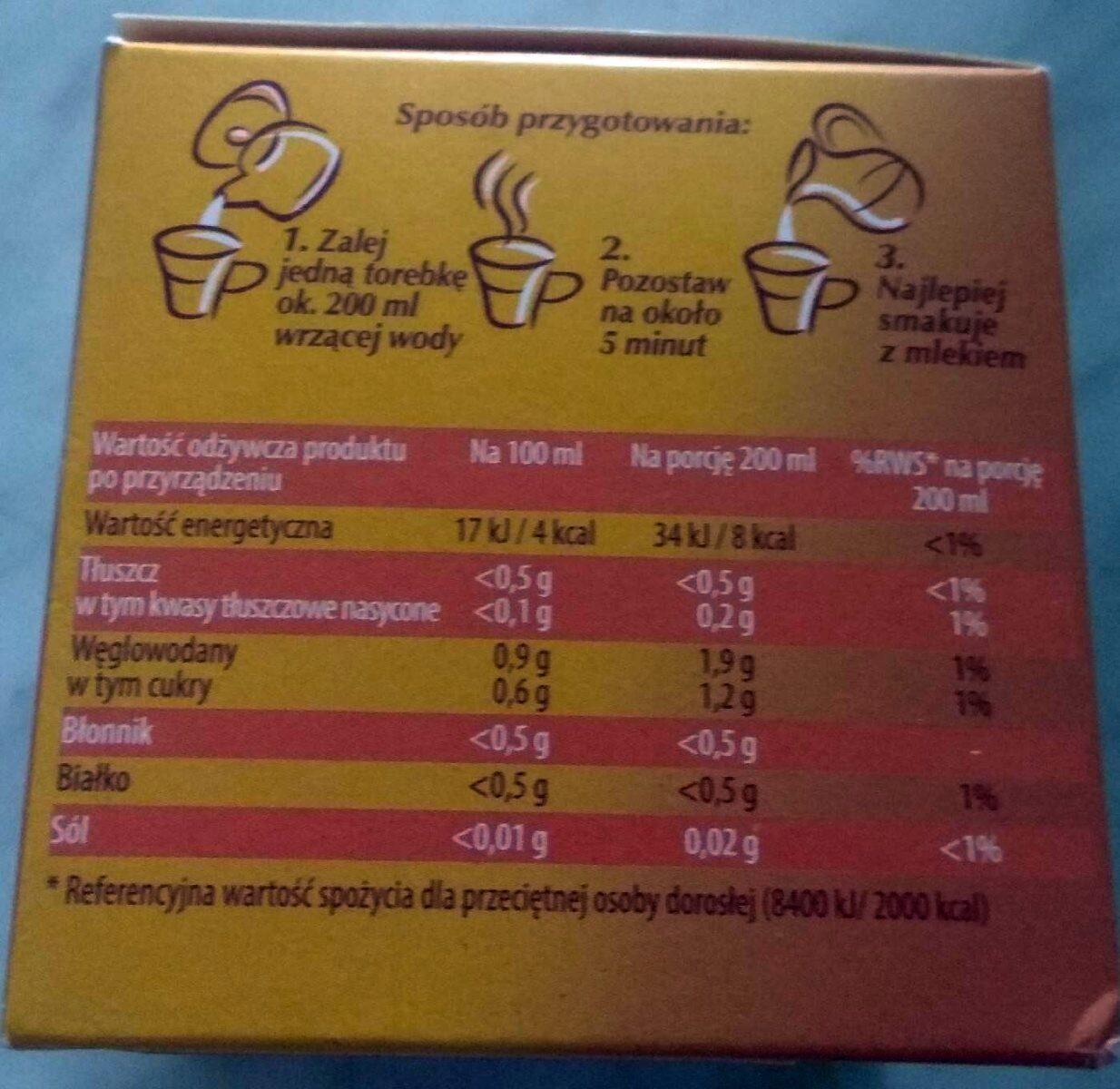 Kawa zbożowa klasyczna w torebkach - Wartości odżywcze - pl