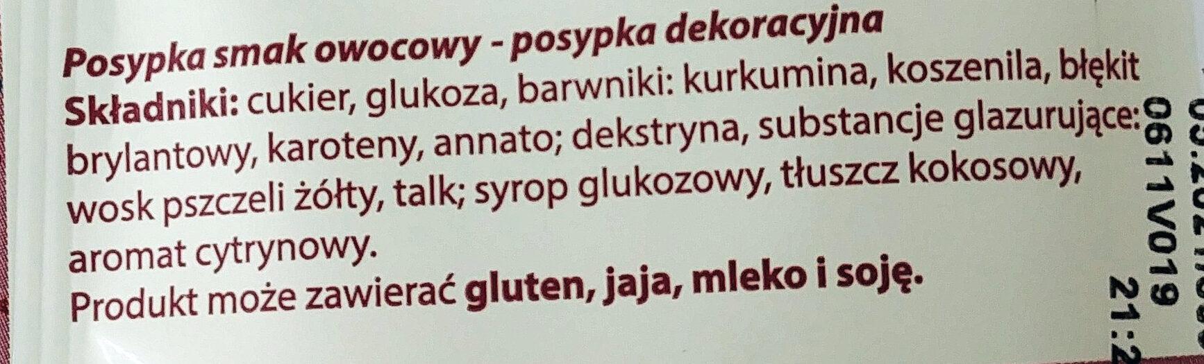 Posypka smak owocowy - posypka dekoracyjna - Ingredients - pl