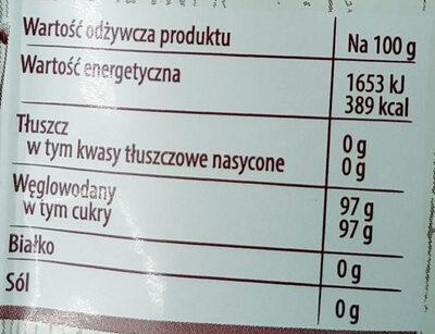 Posypka smak owocowy - posypka dekoracyjna - Nutrition facts - pl