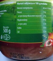Gulasz wieprzowy w sosie pomidorowym z warzywami - Voedingswaarden - pl